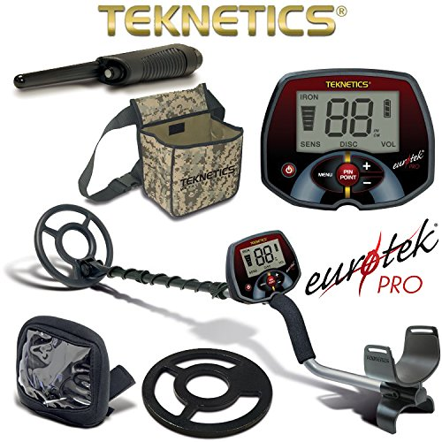 Teknetics Eurotek Pro Metal Detector with Coil Cover Rain Cover...