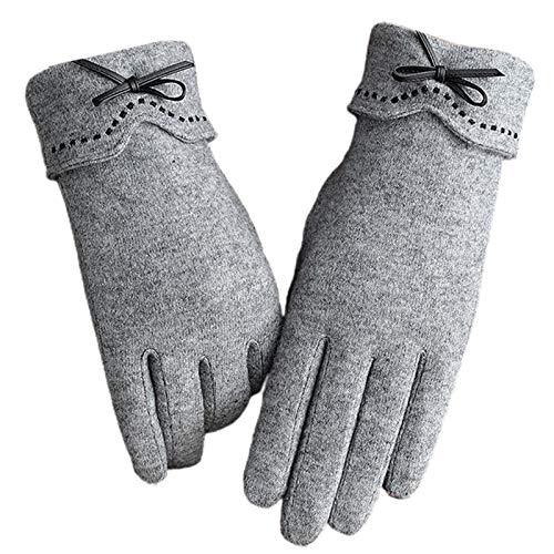Guantes de invierno cálidos de lana sintética para mujer, con forro de felpa, para invierno, para mujer y hombre.