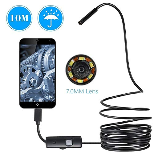 Endoskop Wasserdicht Inspektion Borescope Schlauch-Kamera Geeignet for Android Phone, PC (Cable Length : 1m)
