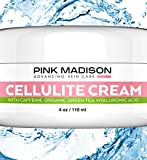 Skin Tightening Cellulite Remover Cream with Caffeine Organic Green Tea & Hyaluronic Acid. Best Cellulite Treatment for Skin Firming and Tightening. Natural Firming Lotion for Legs, Arms, Stomach.
