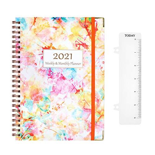 Kalender 2021 - Wochenplaner mit Laschen, Tasche, Januar 2021 - Dezember 2021, Terminkalender 2021 A5, 8