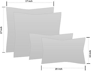 Indoor Outdoor Set of 4 (2-17?x17? Square and 20?x12?) Decorative Lumbar Toss Throw Pillow Weather Resistant - Wheel Indigo -