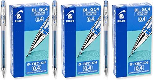 PILOT G-Tec-C - Bolígrafos de gel (0,4 mm), tinta azul, (35492)