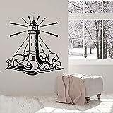 Tianpengyuanshuai Etiqueta de la Pared del Faro casa de Playa Arte Dormitorio Sala de Estar Estudio Interior Vinilo Pegatina 68X68cm