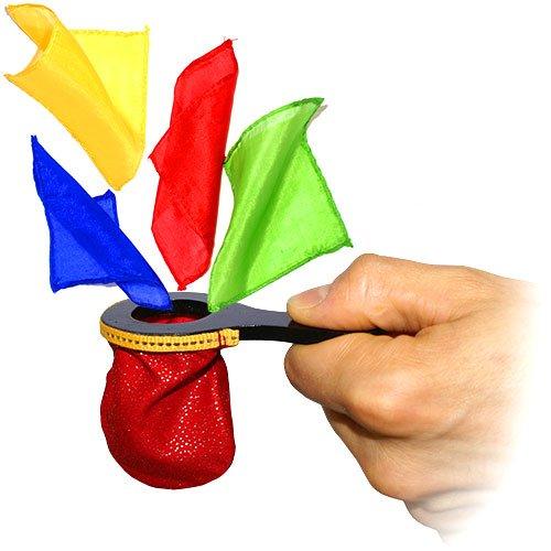 Zaubertricks und Zauberartikel Change Bag Mini Plus, Miniatur Changierbeutel für Zaubertricks inkl. Aller Seidentücher,, Zaubern Lernen, inkl. deutschsprachiger Anleitung von Its Magic Zaubershop