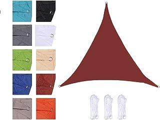 CelinaSun Tenda Parasole a Vela Giardino Balcone HDPE polietilene Traspirante Triangolo 3,6 x 3,6 x 3,6 m Rosso