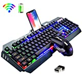Best Wireless Keyboards - Wireless Keyboard and Mouse,Rainbow LED Backlit Rechargeable Keyboard Review