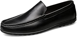 WYR-AU Man Driving Loafer Casual Soft Leather Style Anti-Skid Breathable Easy to Match Business Boat Moccasins