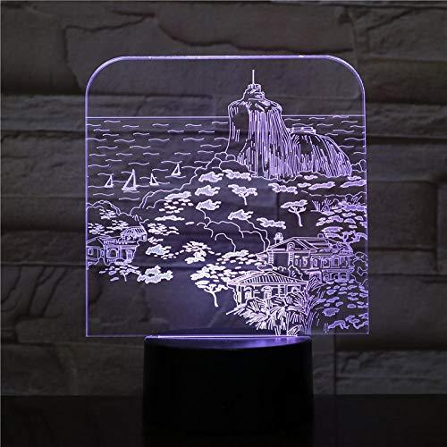 LED Ilusión Óptica Lámpara, USB Luz De Noche Juguete Niños, 3D Touch Lámpara De Mesa,Decoración Del Dormitorio,Vacaciones/Cumpleaños/ Navidad/Halloween Niños Regalos Creativos.