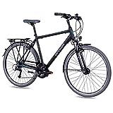 Airtracks Herren Trekking Fahrrad 28 Zoll Trekkingrad TR.2820 Schwarz Matt (56cm (Körpergröße 175-185cm))