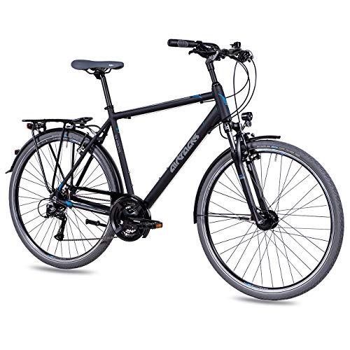 Airtracks Herren Trekking Fahrrad 28 Zoll Trekkingrad TR.2820 Schwarz Matt (52cm (Körpergröße 165-175cm))