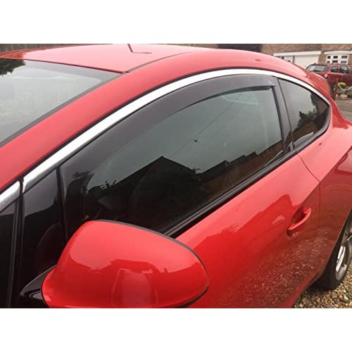 Vauxhall Astra J GTC 3 drs 2012 onwards Wind Deflectors   Rain Shields  FRONT SET - INTERNAL FIT (18045) 80dfa1ba2