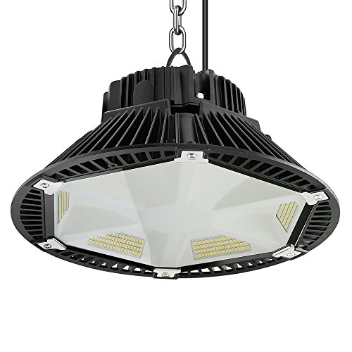 Anten 150W UFO LED Anti-Éblouissement Suspension Industrielle LED Étanche IP65 Éclairage Haute Baie Blanc Froid 6000K (Connecteur de câble étanche Fourni)