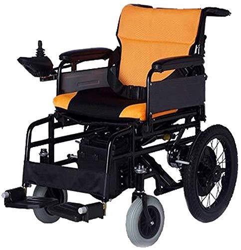 ZHANGYY Tragbarer Leichter, Faltbarer Elektrorollstuhl, motorisierter Scooter-Stuhl für ältere Menschen mit Li-Ionen-Batterie für Behinderte und ältere Menschen Mobilitätslast 100 kg Elekt