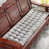 Yuly - Cuscino spesso per panca da giardino, comodo cuscino per sedia da giardino, morbido cuscino per 2-3 posti, per mobili da giardino o panchine, 160 x 55 x 8 cm, colore: grigio