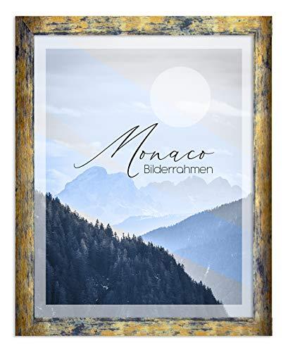 BIRAPA Bilderrahmen Monaco 50x70 cm in Blaugold Meliert - Farbe und Größe wählbar
