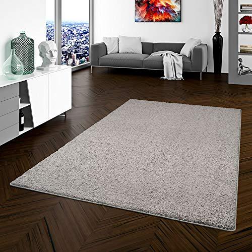 Teppich Hochflor Shaggy Prestige Grau in 22 Größen, Größe:100x100 cm