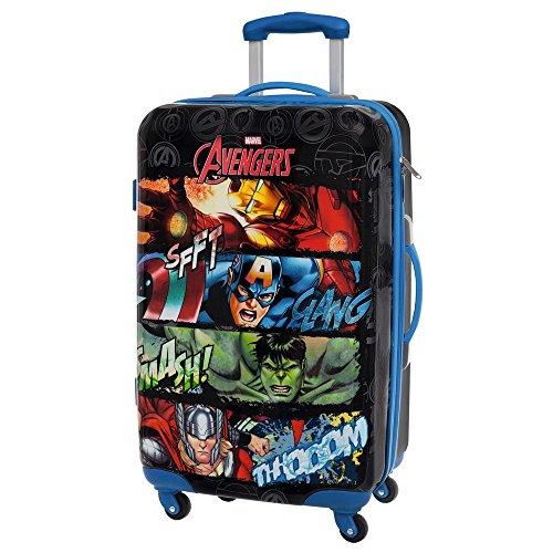 Marvel 4411551 Avengers Trolley, ABS, Nero, 67 cm