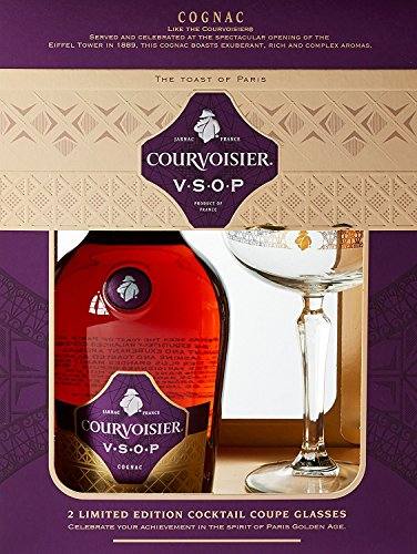 Courvoisier VSOP Cognac, 1er Pack (1 x 700 ml) GP mit 2 Cocktail Gläsern