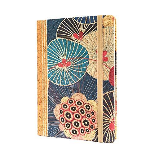 MENKAI- Cuaderno con tapa de corcho,Notepad,Notebook Cuaderno,Unisex,A5,80 Hojas de papel en el interior
