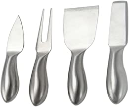 BESTONZON 4 Pieces Cheese Knife Set Steel Stainless Cheese Slicer Shovel Cheese Fork