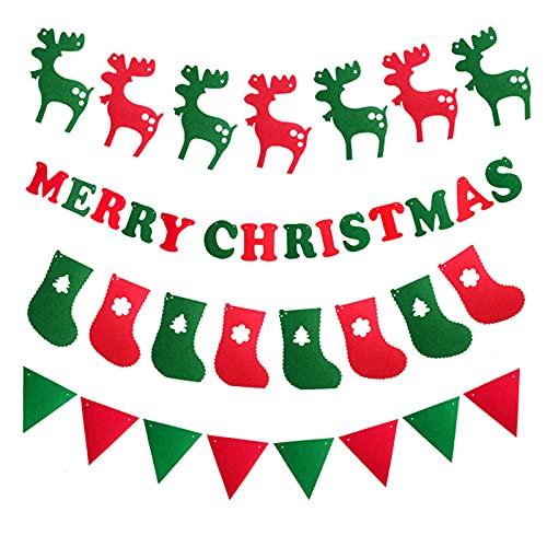 UISY Guirnalda de Navidad para colgar, diseño de Papá Noel