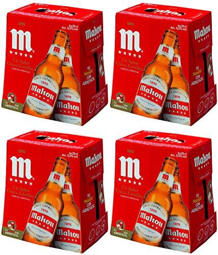 Mahou 5 Estrellas Cerveza Dorada Lager, 5.5% de Volumen de Alcohol - Pack de 24 x 25 cl