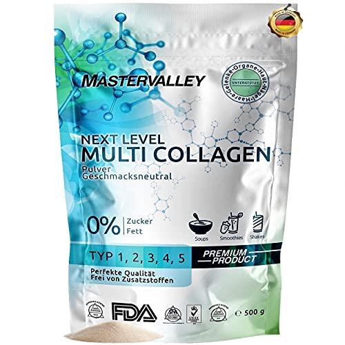 Collagen Pulver | Premium Multi Collagen Complex | Kollagen Hydrolysat | Peptide Typ 1,2,3,4,5 | Geschmacksneutral | Ohne Zusatzstoffe | Eiweiß | Protein | Aminosäuren |...