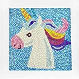 Diamante infantil pintura diamante completo arte artesanía set dibujos animados unicornio incluyendo madera