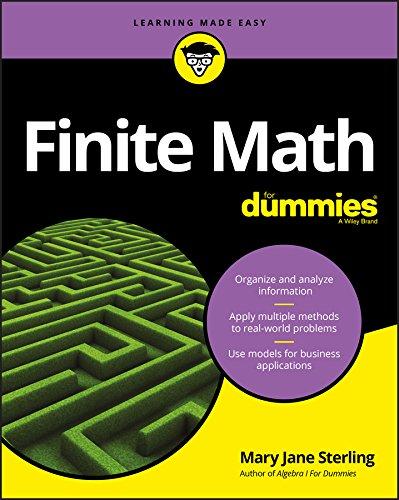 Finite Math For Dummies (English Edition)
