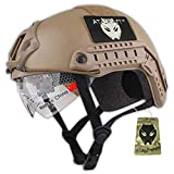 Atairsoft tattico esercito stile militare SWAT Combat MH tipo Fast Helmet (L/XL) Airsoft Paintball caccia CQB shooting Gear W/Goggle Dark Earth