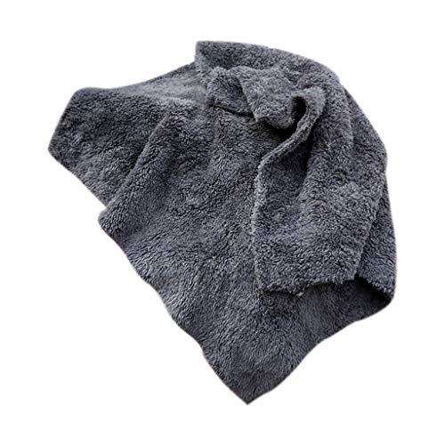 Yue668 - Paño de Limpieza de Terciopelo Coral, toallitas Gruesas y absorbentes, para Lavado de Coche y Moto, Gris, 40x40CM/15.7 * 15.7IN