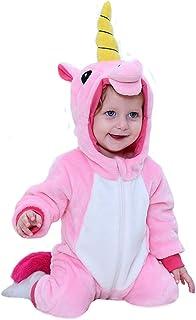 Mamelucos con Capucha para Bebé Niño Niña Mono Pelele Pijama de Primavera y otoño Franela Traje de Animales