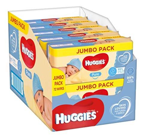 Huggies Pure Toallitas para Bebé - 10 paquetes de 72 unidades