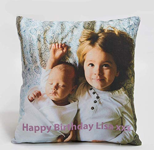 Fab Gifts Personalised Family Cushion Photo Edge to Edge Photo Printed Pillow DOUBLE SIDED FILLED Cushion (30cm x 30cm)