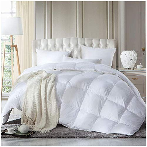 Duck Feather Down SINGLE Duvet Quilt 13.5 Tog Luxury Comforter Deluxe Duvet, Best Hotel Quality, Super Soft, Warm and Cosy, Anti Allergy, Computer Quilted Construction, Self piping