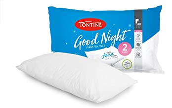 Tontine T2890 Good Night Pillow Duo Pack, Firm and High,White