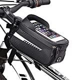 Bolsa Teléfono Bicicleta Impermeable, ZoneYan Bolsa Bicicleta Manillar Mtb Montaña, Bolsa Bicicleta Cuadro Carretera, Bicycle Bag, Bike Frame Bag, Bolsillo Delantero Bicicleta