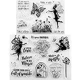 Tikkii - Lote de 2 sellos transparentes para hacer tarjetas y álbumes de recortes