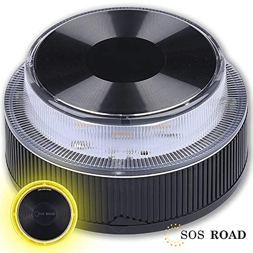 NK SOS Road- Baliza luz de Emergencia | Luz de Emergencia Autónoma | Luz LED | Señal V16 de Preseñalización de Peligro Homologada - (Autorizada por la DGT)