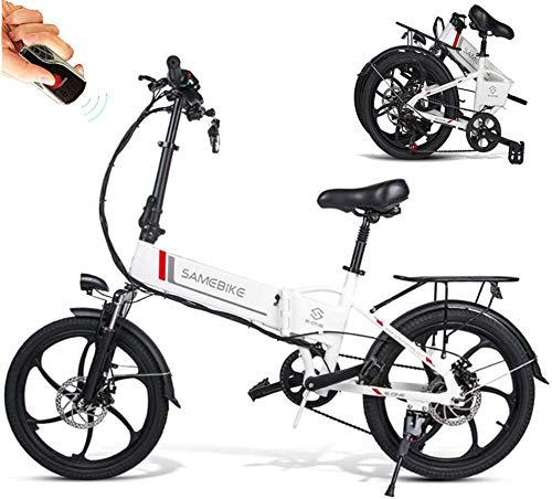 Elektrofahrrad 20 Zoll Klapprad MTB Ebike Mountainbike mit 48V 10,4Ah Lithium-Akku, 350 W Motor 25 km/h, 7-Gang-Diebstahlalarm Smartphone-Halter,Elektrische E-Bike Elektrofahrräder für Herren Damen