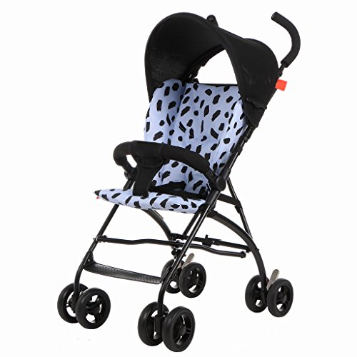 Sillas de paseo Carritos de bebé ligeros Paraguas de suspensión bebé ultra-ligero transporte portátil de cuatro ruedas de los niños carrito Carrito de bebé (Color : Azul claro)