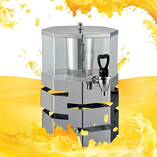 Dispensador de Bebidas con Sistema de Enfriamiento 4L, Dispensador Agua Potable para Comercial o Doméstico, en Plástico y Acero Inoxidable, Dispensador Limonada, Envase Jugo Gran Capacidad