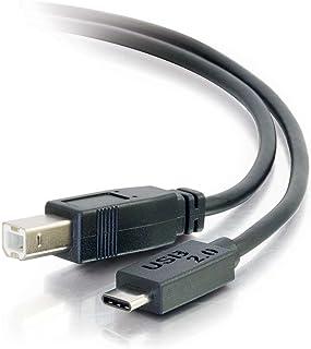 C2G 28859 USB 2.0 USB-C إلى USB-B كابل M/M للطابعات والماسحات الضوئية والأخ والكانون وديل وإبسون وHP وغيرها، أسود (6 أقدام...