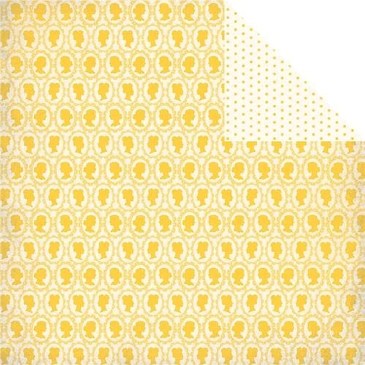 Authentique Paper Beauty Double-Sided Cardstock, 12 X 12-Inch, Cameo Silhouettes/Mini Dot