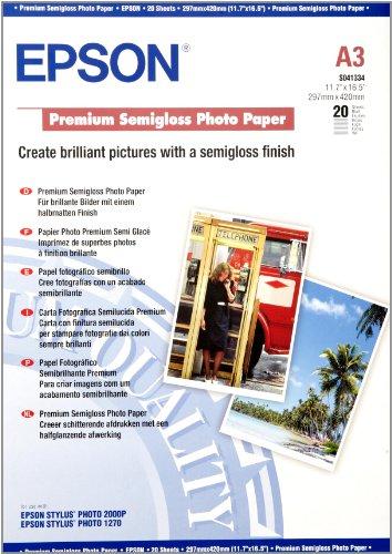 Epson Papier Photo Semigloss Premium A3 29,7 x 42 cm (A3) Carta fotografica