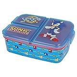Sonic   Sandwichera con 3 Compartimentos para niños - lonchera Infantil - Porta merienda - Fiambrera Decorada