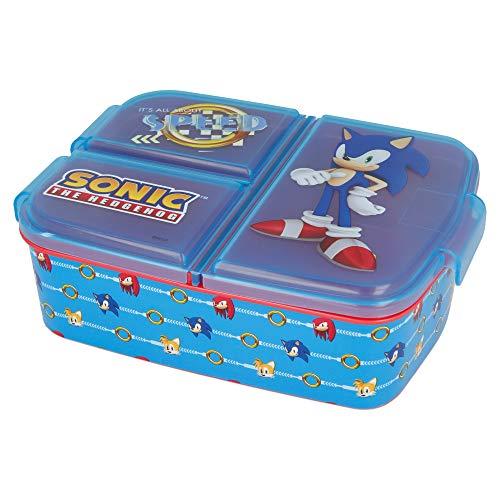 Sonic |Brotdose mit 3 Fächern für Kinder - Kids Sandwich Box - Lunchbox - Brotbox BPA frei