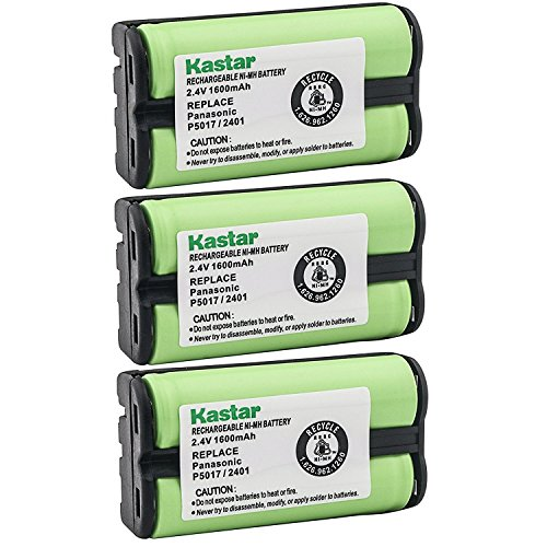 Kastar Cordless Battery (3 Pack), Ni-MH 2.4V 1600mAh, Replacement for AT&T 2455 2440 2430 2402 2401 2400 Cordless Telephone Battery and Panasonic HHR-P546A, Type 23