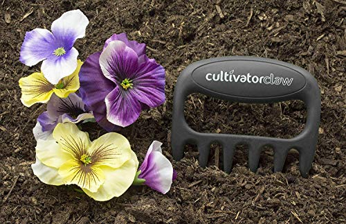 Bear Paws Cultivator Claw - Ergonomic Gardening Tools - Hand Held Garden Tool - Hand Rake - Strong Nylon Weeder - Manual… 4 ERGONOMIC - The Bear Paws Cultivator Claw design allows for natural movement which reduces hand and arm fatigue. Because your fingers are free, picking out rocks and weeds without ever setting it down is a breeze SHARP CLAWS: Great for breaking up soil, weeding and removing unwanted debris in your flower bed or garden DURABLE - Traditional metal hand tools are replaced with our tough and ultra strong nylon. For a durable gardening tool, you can't beat the Cultivator Claw garden tool